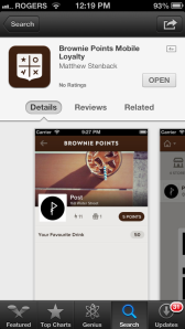 Screenshot of Brownie Points from the App Store